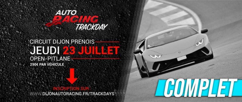 COMPLET !!! TrackDay Dijon-Prenois | Jeudi 23 Juillet 2020