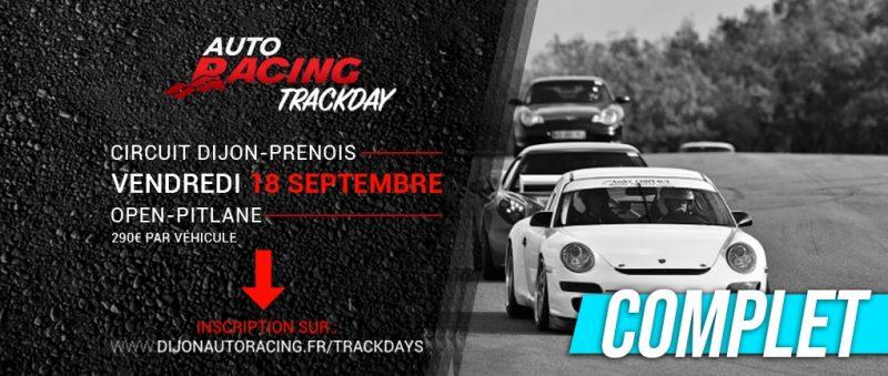 COMPLET !!! TrackDay Dijon-Prenois | Vendredi 18 Septembre 2020
