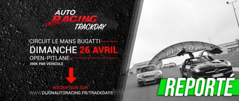 TrackDay Le Mans Bugatti | Dimanche 26 Avril 2020