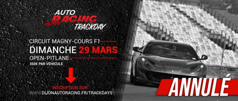 TrackDay Nevers Magny-Cours | Dimanche 29 Mars 2020