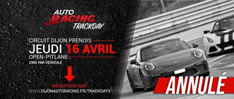 TrackDay Dijon-Prenois | Jeudi 16 Avril 2020