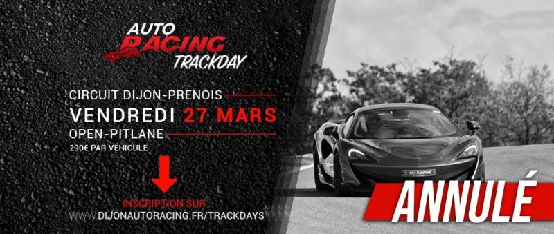 TrackDay Dijon-Prenois | Vendredi 27 Mars 2020